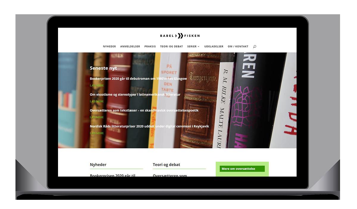 Babelfisken - opfriskning af eksisterende hjemmeside